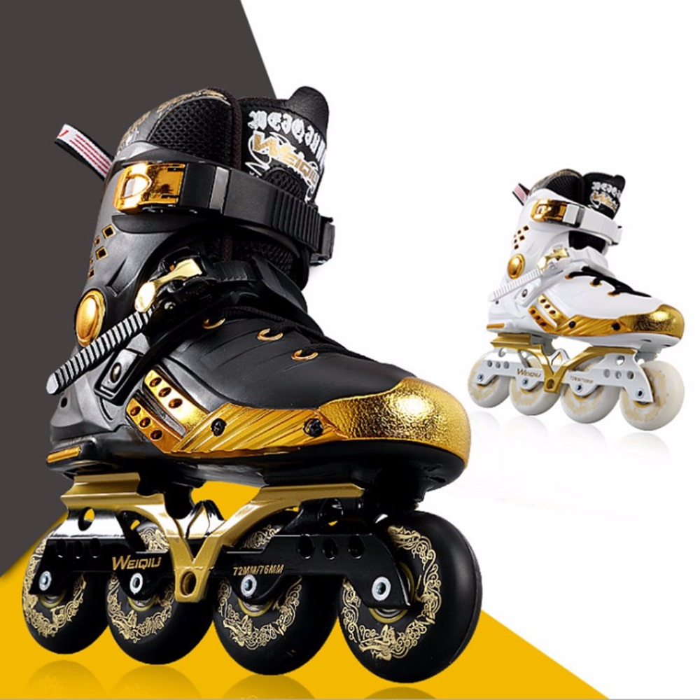 Illuminating Inline Skates PU Wheels Full Light Up LED Wheels Roller Skates Universal Men And Women Skates For Skating Rink Hot reniaever double roller skates skating shoe gift girls black wheels roller shoe figure skates white free shipping