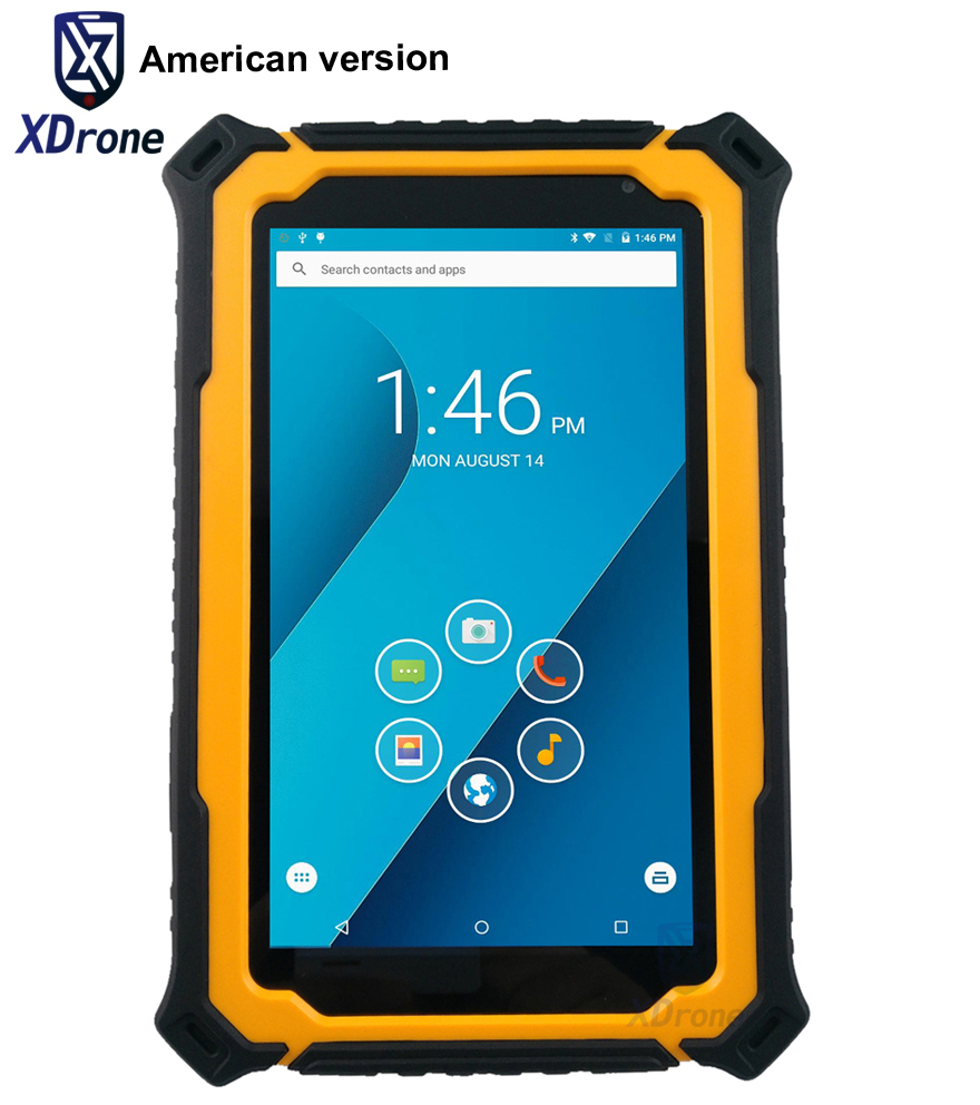 2017 American Version Tough T71V3 Android Tablet PC Phone Waterproof Shockproof Quad Core 7 Inch 3GB RAM LF RFID Gps GNSS 4G LTE