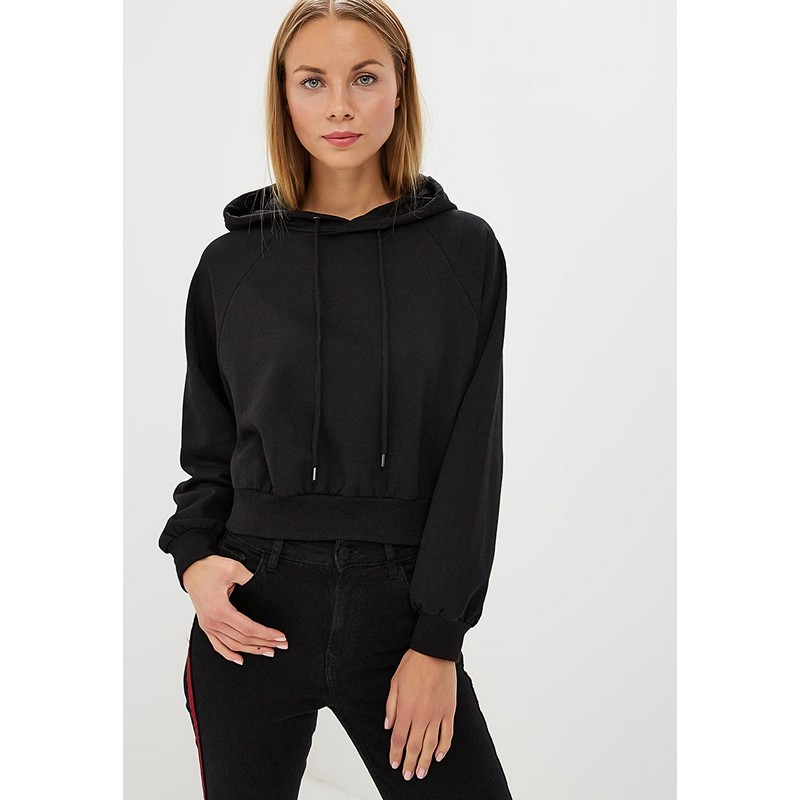 Hoodies & Sweatshirts MODIS M182W00574 hooded jumper sweater for female for woman TmallFS plus raglan sleeve hooded sweater