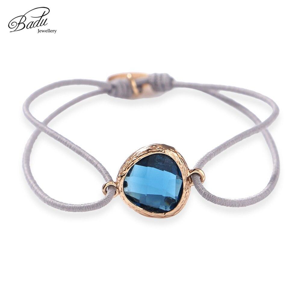 Badu Elastic String Bracelet Crystal Charming For Women Stone Beads Adjustable Bracelets Fashion Jewelry Gift For Best Friend