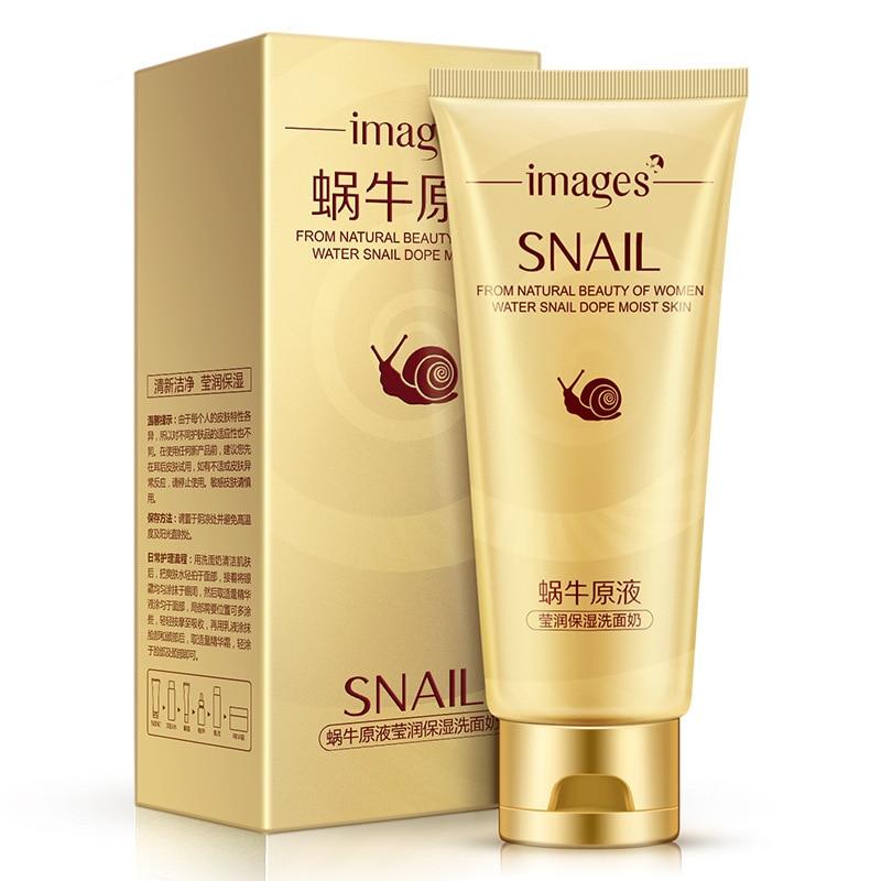 BIOAQUA Snail Face Clean Cleanser Moisturizing Oil Control Repair Essence Facial Pore Foam Cleanser Skin Care Acne Treatment