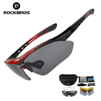 ROCKBROS Polarized Hiking Sports Men Sunglasses Cycling Glasses Mountain Bicycle Riding UV400 Protection Goggles Eyewear 5
