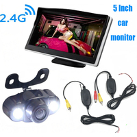 3 In 1 Auto Parking Kit Night Vision Wireless Car Reavr View Camera Reverse Reversing Camera