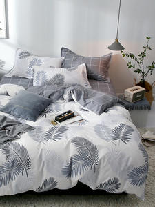 Sisher Bedding-Set Sets Pillowcase Quilt-Covers Bed-Linen-Sheet Double-Queen Simple Single