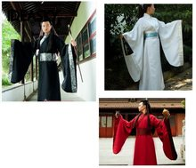 Men's hanfu costume cosplay clothes, Ancient Chinese Hanfu Costume Men Clothes China Tang Suit kongfu Oriental Traditional Dress(China)