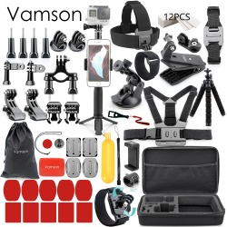 Vamson for Gopro Accessories set for go pro hero 7 6 5 4 kit mount for SJCAM for SJ4000 / for xiaomi for yi 4k for eken h9 VS84