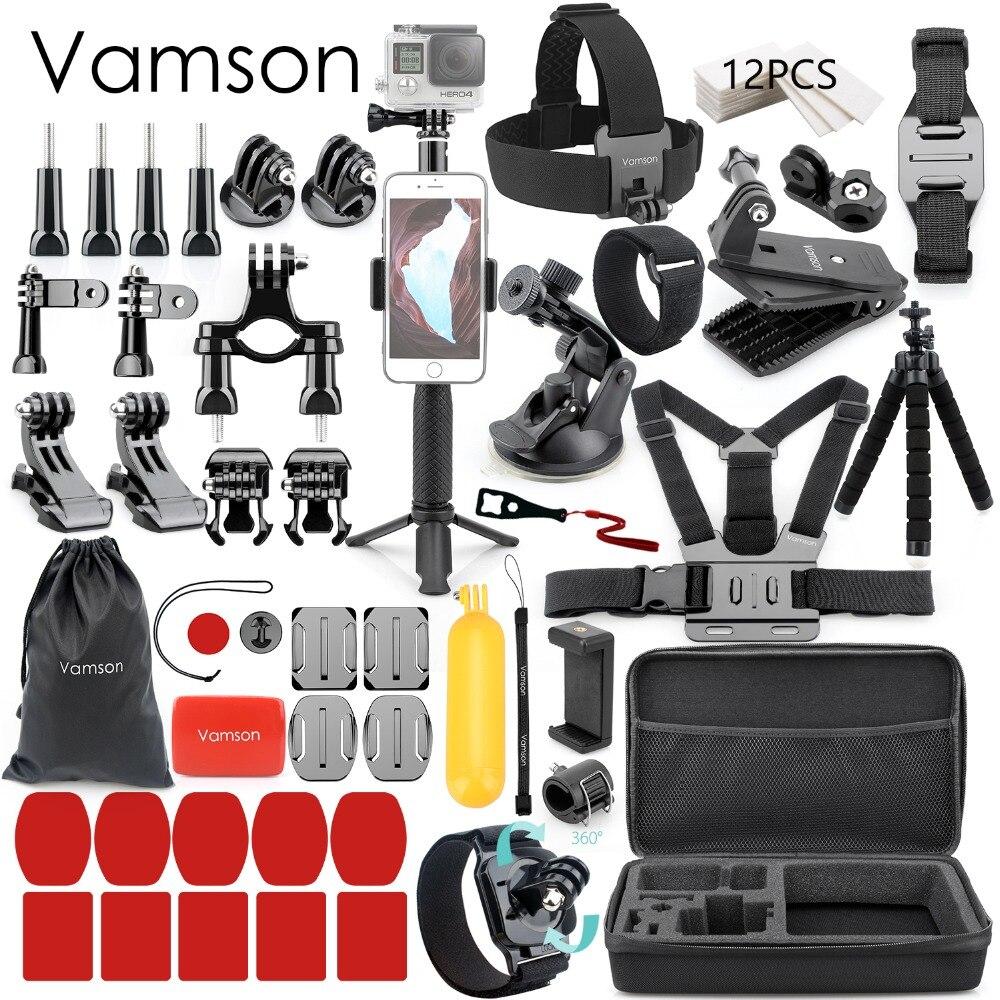 Vamson para Gopro accesorios para ir pro hero 7 6 5 4 kit de montaje para SJCAM para SJ4000/para xiaomi para yi 4 k para eken h9 VS84