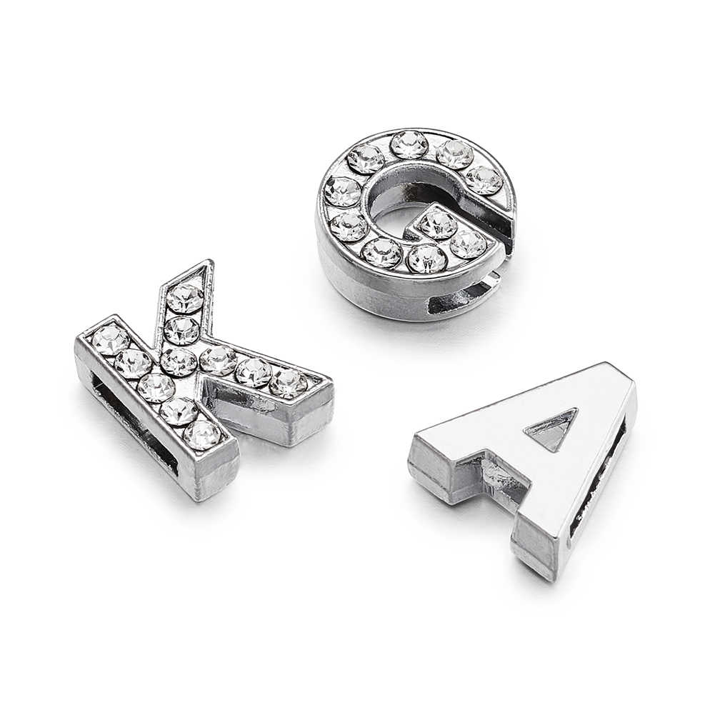 304 Stainless Steel charms pendants for DIY  jewelry making Necklace bracelet with 26pcs Letter A~Z and 10 pcs Number 0~9 F60