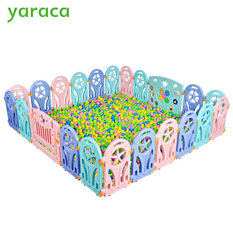 Baby Playpen Plastic Fence Safety Protector Kids Safety Barriers Fencing For Children Indoor Game Play Yard Playpen Baby Fence dog fence wireless containment system pet wire free fencing kd661