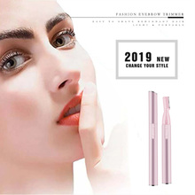 NEW Brand 2 Colors Electric Eyebrow Trimmer Eyebrows Remover Makeup Professional Face Hair Shaver Razors Mini Eye Brow Scissors