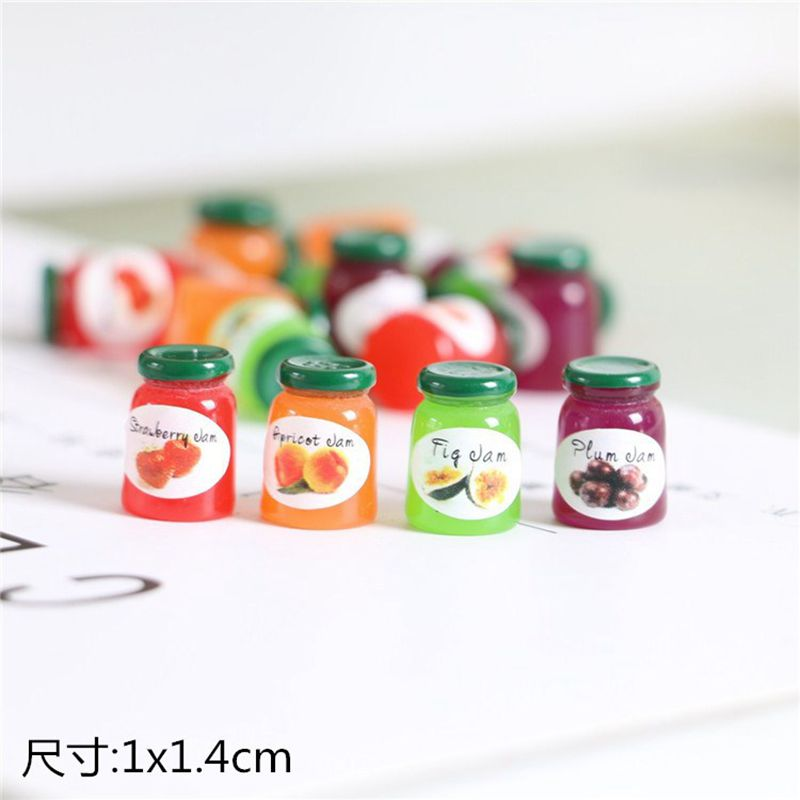 1/12 Scale Dollhouse Miniature food Mini Honey sugar jar Play Doll food for barbies blyth kitchen toys-in Kitchen Toys from Toys & Hobbies