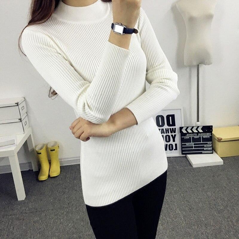 Otoño Invierno Suéter de las mujeres  Nuevo Coreano Ocasional de punto de cuello