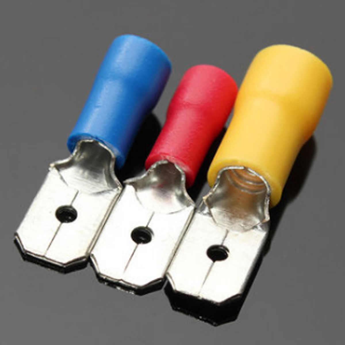 Excellway Ассорти 280 шт Изолированная вилка u-типа набор терминалов Разъемы Ассортимент Комплект Электрический обжимной Лопата кольцо