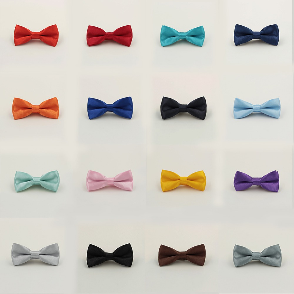 Pack Of 2 Generic Mens Polyester Bow Tie Double-deck Red Silvery and Black