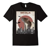 fc2f2d68 Ratzilla Funny Rat T-Shirt | Cute Japanese Mouse Lovers Gift T Shirts  Casual Brand Clothing Cotton Print T Shirts Men
