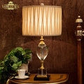 Europe luxury crystal lighting lamps bedside table lamp classical table lamp for living room/bedroom lighting lamps decoration