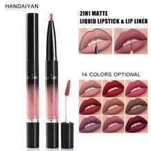 2 in 1 Double-end Matte Liquid Lipstick Makeup Waterproof