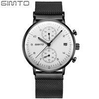 Brand Gimto Luxury Brand Men Stainless Steel Analog Watches Men S Quartz Clock Man Fashion Casual