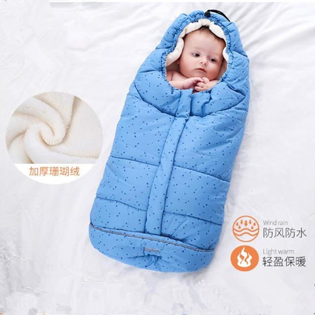 Us 23 98 41 Off Baby Sleeping Bag Winter Envelope For Newborns Sleep Thermal Sack Cotton Kids In The Carriage Schlafsack Sleepsacks