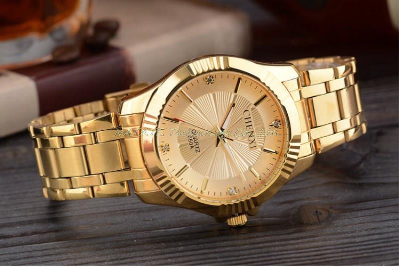 67b5aebfb22 CAGARNY Relógio Homem de Design Da Marca de Moda de Luxo de Ouro Pulseira  de Aço Correia de Pulso de Quartzo Presentes Relógios de Negócio Masculino  ...