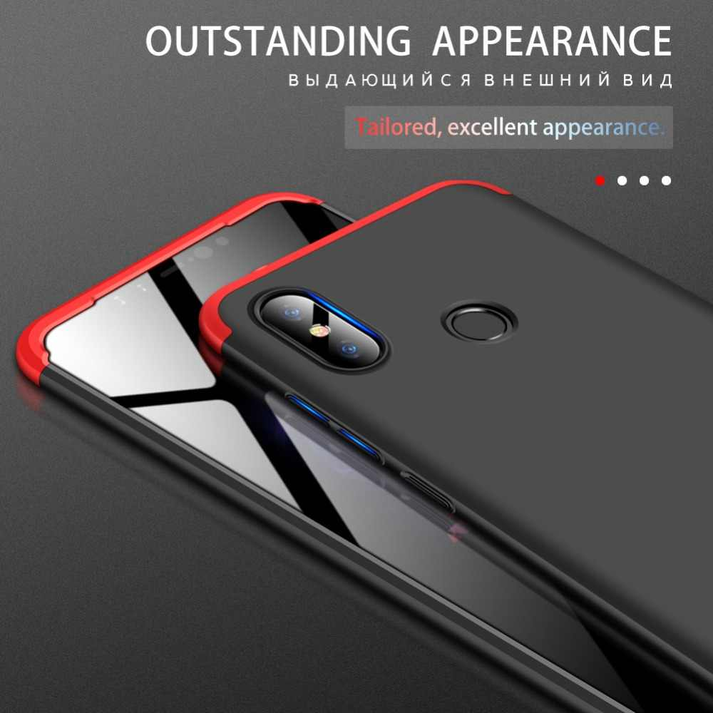 GKK Original Case for Xiaomi Redmi Note 6 Pro note 5 Case 360 All-inclusive  3 in 1 Shockproof Matte Cover for Redmi note 6 Case