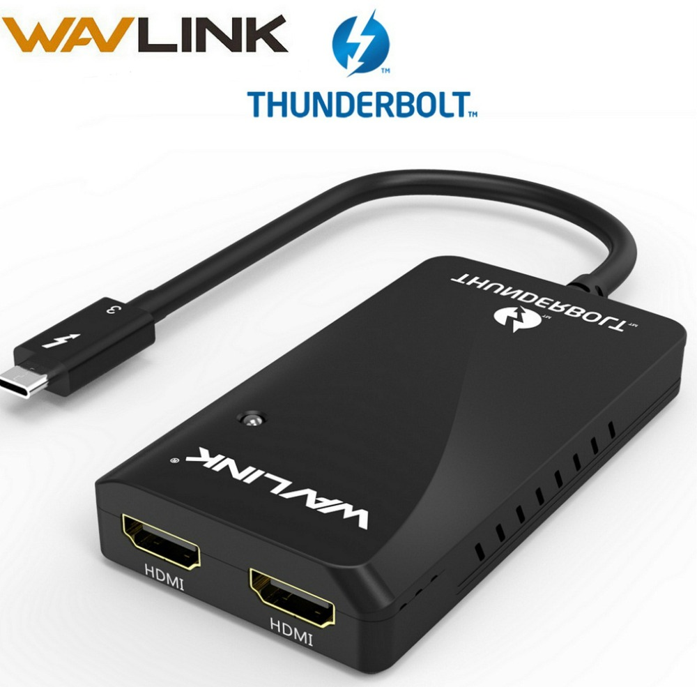 Thunderbolt 3 adapter dual HDMI Display adapter Splitter type C usb C hub 40Gbps 4K Displayport HDMI 1080P Video Splitter 60Hz-in USB Hubs from Computer & Office