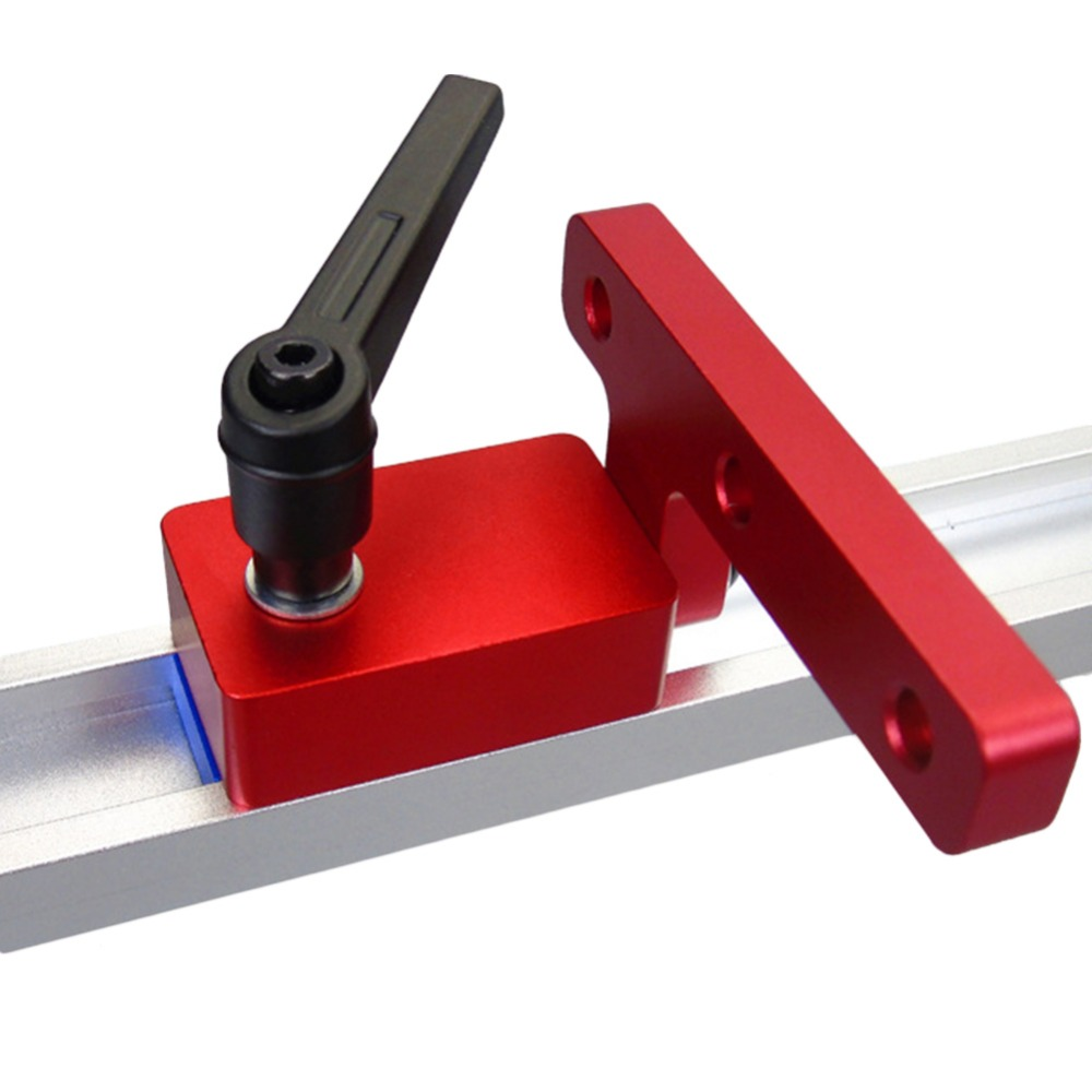 Woodworking Tools Miter Track Stop For 30mm T-track Woodworking Hand Tool Manual Durable Aluminium Miter Track Stop (Red Series) 1pcs aluminium miter bar length 450mm miter slider woodworking tools kf925