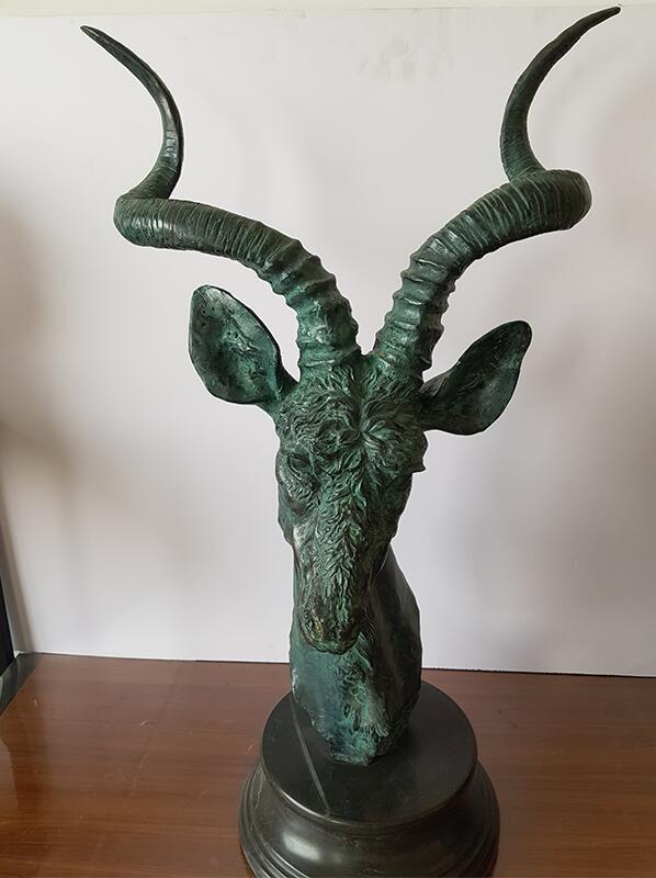 Bronze casting deer head sculpture (12)