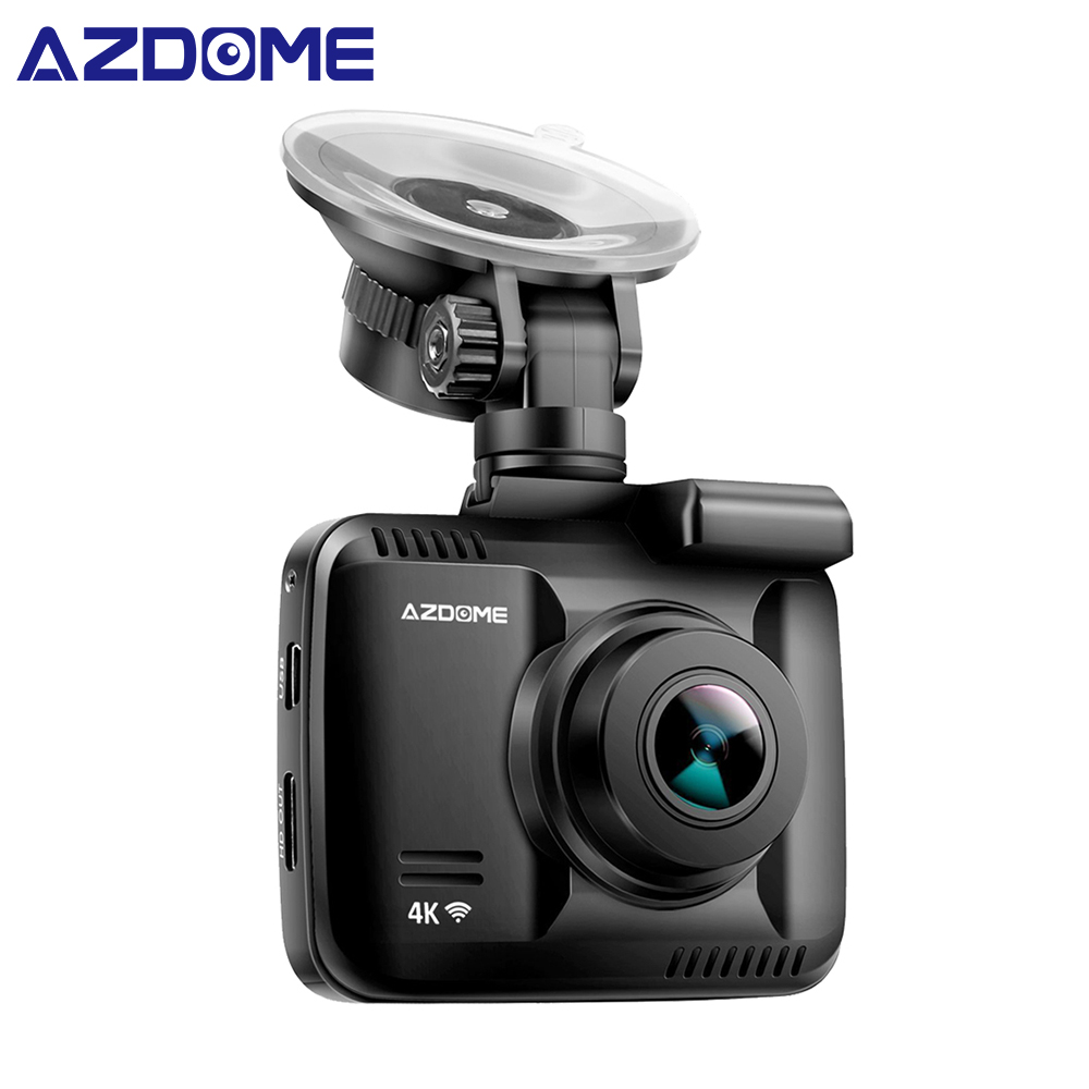 Azdome GS63H Wi-Fi Автомобильные видеорегистраторы Регистраторы регистраторы Двойной объектив автомобиля сзади Камера встроенный gps видеокамера 4 К 2160 P ночное видение Dashcam