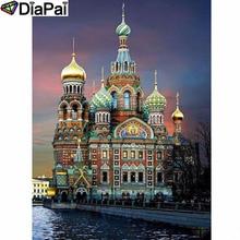 "DIAPAI Diamond Painting 5D DIY 100% Full Square/Round Drill ""Castle scenery"" Diamond Embroidery Cross Stitch 3D Decor A24628"