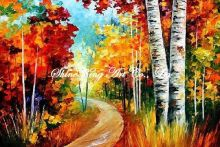 handmade landscape knife oil painting K132