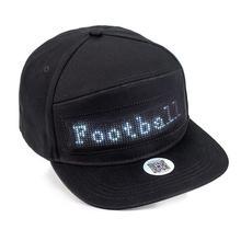 מגניב 12*48 Bluetooth Led סימן כובע היפ הופ רחוב ריקוד מסיבת מצעד קרם הגנה טיולים לילה ריצה דיג כובע gif