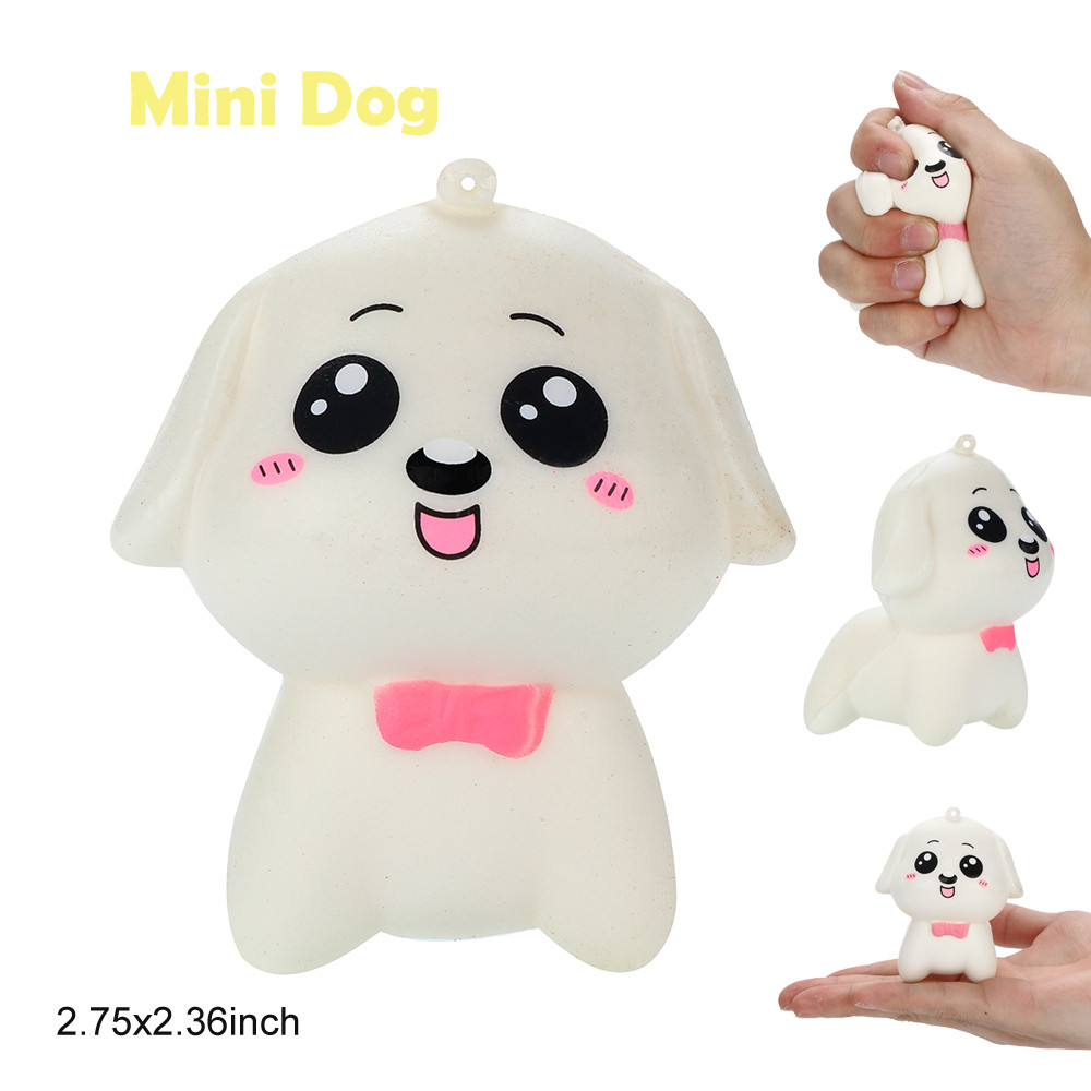 Squish Antistress Stress Reliever Scented Super Slow Rising Kids Kids Toy Cute Soft Mini Dog Squeeze Squishy Toys for Children цена и фото