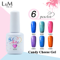 6 Pcs Gelartist Grand Uv Nail Gel Polish Candy Cheese Gel 30days Long Lasting Free Shipping