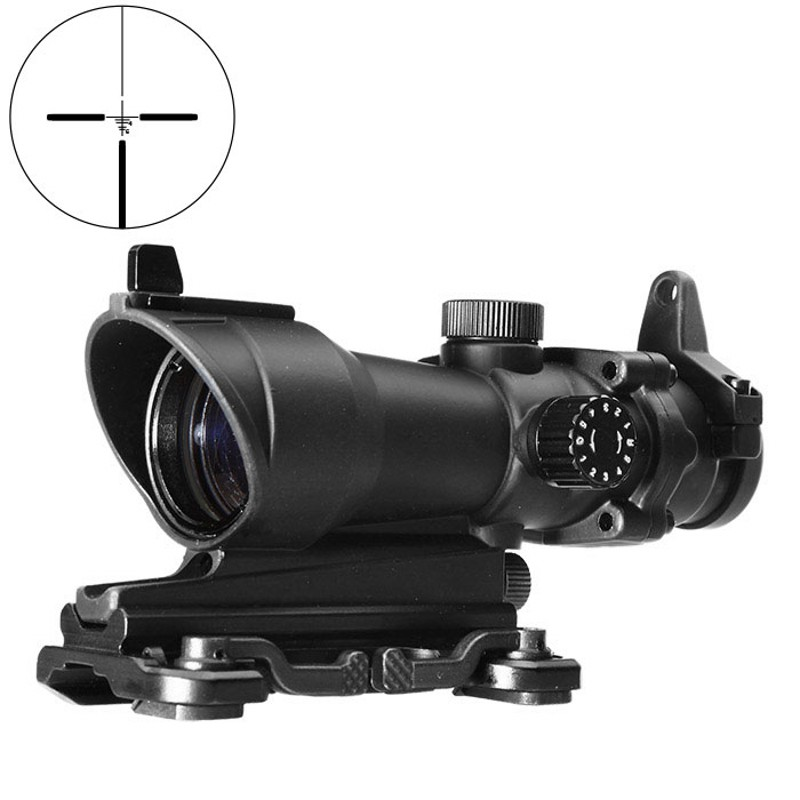 Aim Acog 4X32 Optical Scope Red Green Reticle With QD Mount Sniper Riflescope Hunting Shooting Rifle Scope AO5319 aim o hunting reddot acog 4x32 optical rifle telescope red green reticle with mount 1 set ao5318