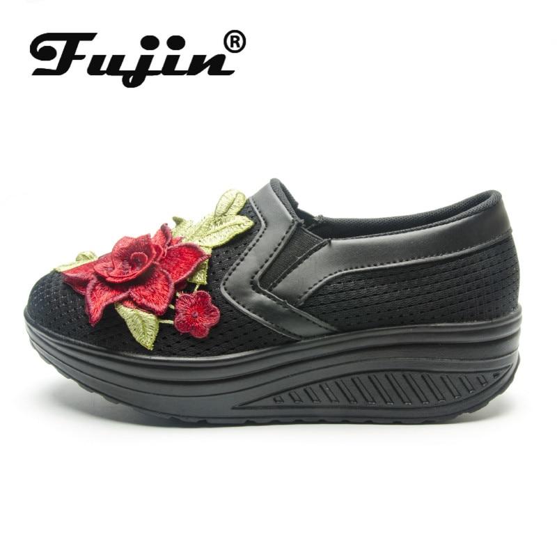 Fujin Thick Bottom Sponge Cake Single Cushion Shoes Summer New Women Thick-soled Shake Fashion Casual Dropshipping