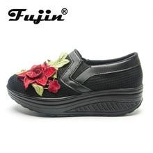 Fujin Thick Bottom Sponge Cake Single Cushion Shoes Summer New Women Thick-soled Shake Fashion Casual Shake Shoes Dropshipping цены