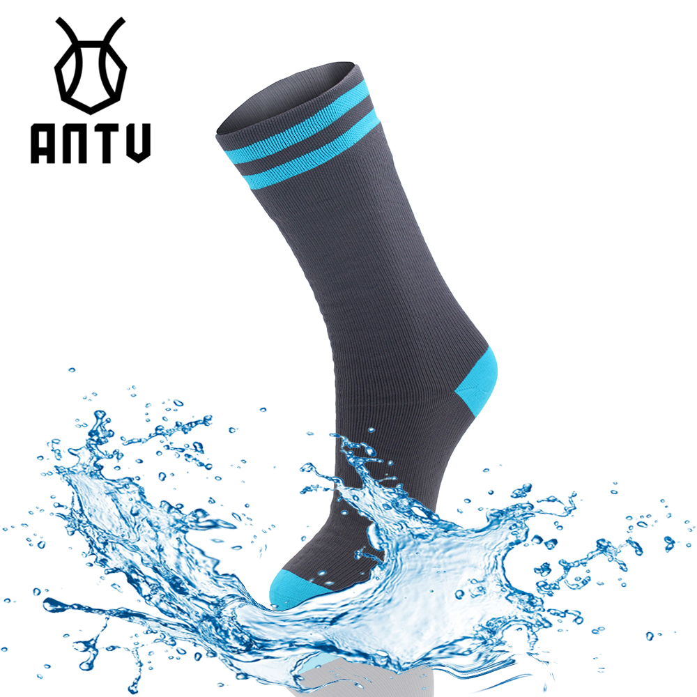 ANTU Waterproof Merino Wool Mid Weight MID CALF LENGTH Socks For Cycling Hiking Hunting Skiing Fishing Seamless Sports Unisex