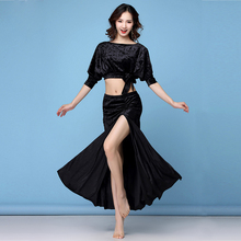 Belly Dance Costume Set Woman Bellydance Top Skirts Training 2-Pieces Oriental