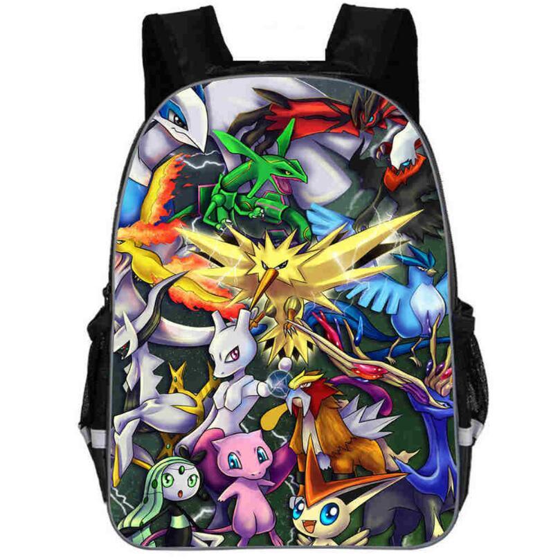 2019 New Pokemon Pikachu School Backpacks For Teenage Boys Girls Women Felt Backpack Casual School Bagpack Bolsa Mochilas