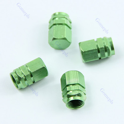 2017 Car Styling 10set/lot Green 4 PCS Hexagonal Tyre Wheel Ventil Valve Cap For Auto Car Truck JUN13