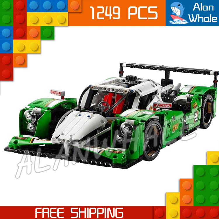 1249pcs New Technic 24 Hours Race Car 20003 DIY SUV Racer 2-in-1 Model Building Kit Blocks Gifts Boys Toys Compatible with <font><b>Lego</b></font> image