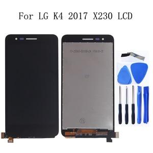 Image 1 - 5.0 pollici Originale Per LG K4 2017X230 X230i X230K X230DSF Display LCD Touch Screen con Telaio di Riparazione kit di Ricambio + Strumenti
