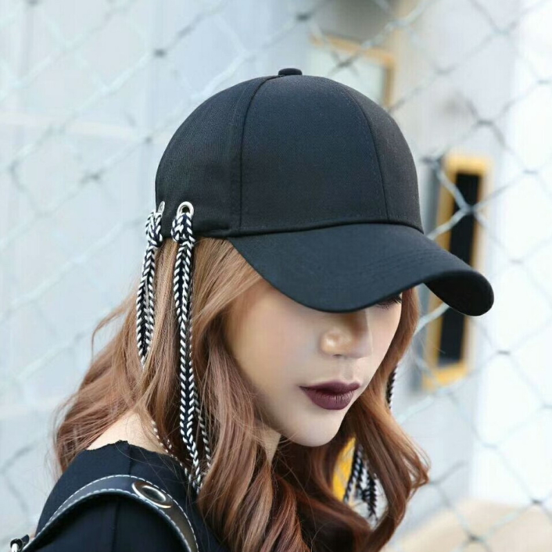 hot sale women girl weave braid design novelty baseball cap simple style solid cotton sports outdoor decorated casual caps