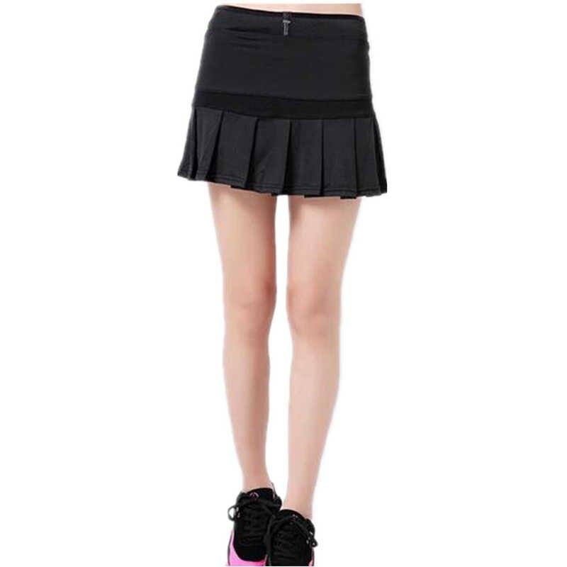 Wysyłka z USA sportowe damskie spódnice tenis Skorts do badmintona spódnice do biegania krótkie Feminino kombinezon plisowana spódnica do tenisa Y50