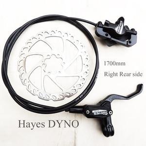 Image 1 - Hayes の Dyno 1700 ミリメートル油圧ディスクブレーキ右リア片面 xc mtb BMX オイルプレス自転車ブレーキ
