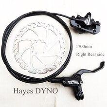Hayes dyno freio a disco hidráulico para bike, imprensa de óleo bmx de 1700mm, lateral direita, xc, mtb