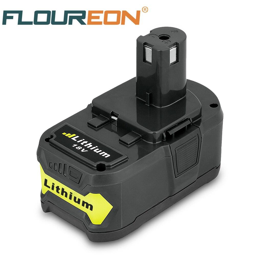 Pour Ryobi 18 v 4Ah 4000 mah Rechargeable Batterie P108 RB18L40 Lithium-Ion Haute Capacité Pack Power Tool Batterie Ryobi UN +