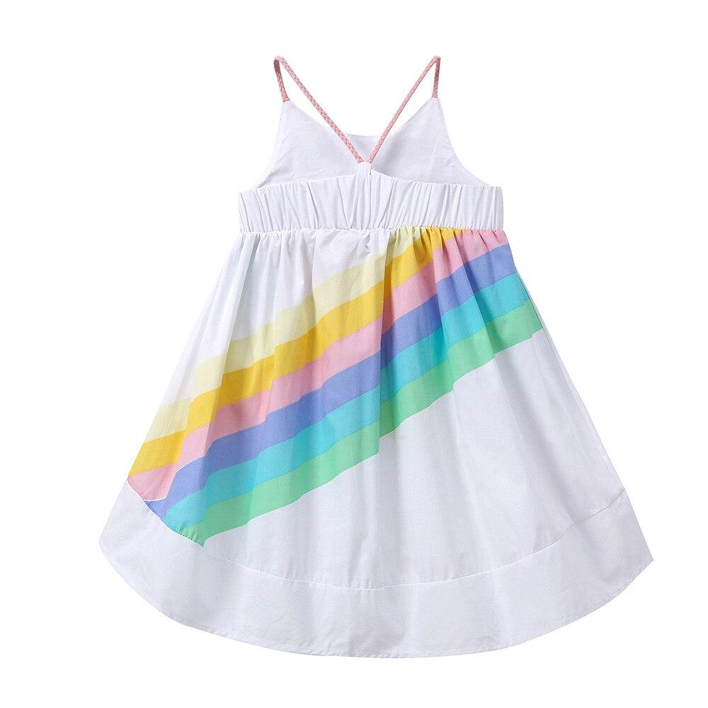 HIBYHOBY Summer Girl Sleeveless Rainbow Wydrukowana sukienka - Ubrania dziecięce - Zdjęcie 2