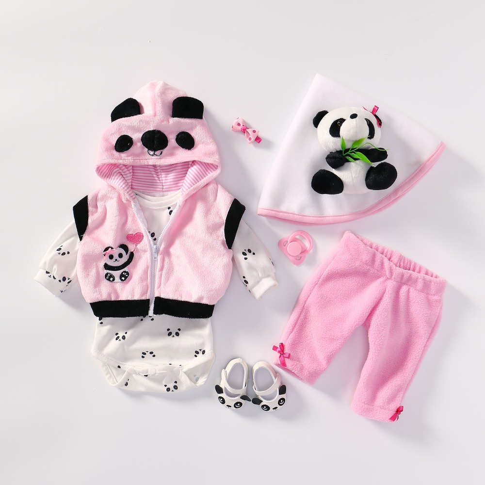 4 Different Styles Fits 50-55CM Doll  Dress Reborn Baby Doll Clothes High Quality Dress All Cotton Clothes